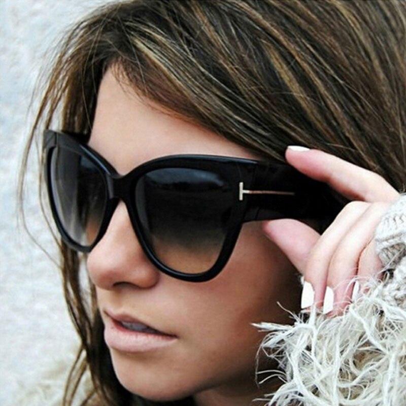 ZXWLYXGX 2021 mode yeux de chat lunettes de soleil femmes marque concepteur de luxe Sexy dames dégradé lunettes de soleil femme UV400   AliExpress
