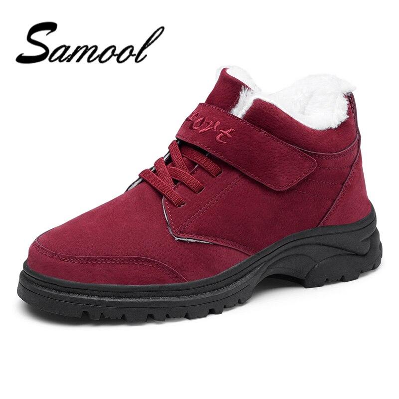 26361e419 grey La Madre 44 De Dentro Q Impermeables Casual Piel Mantener Calientes  Size36 Caliente Antideslizante Fondo Invierno red Mujeres Nieve Black Botas  Zapatos ...