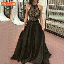 Fashion Black Evening Dresses Party 2019 Long Prom Dress Wom