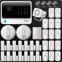 DHL Free Shipping 2 4G WiFi GSM GPRS SMS Alarm System Wireless Home House Security System