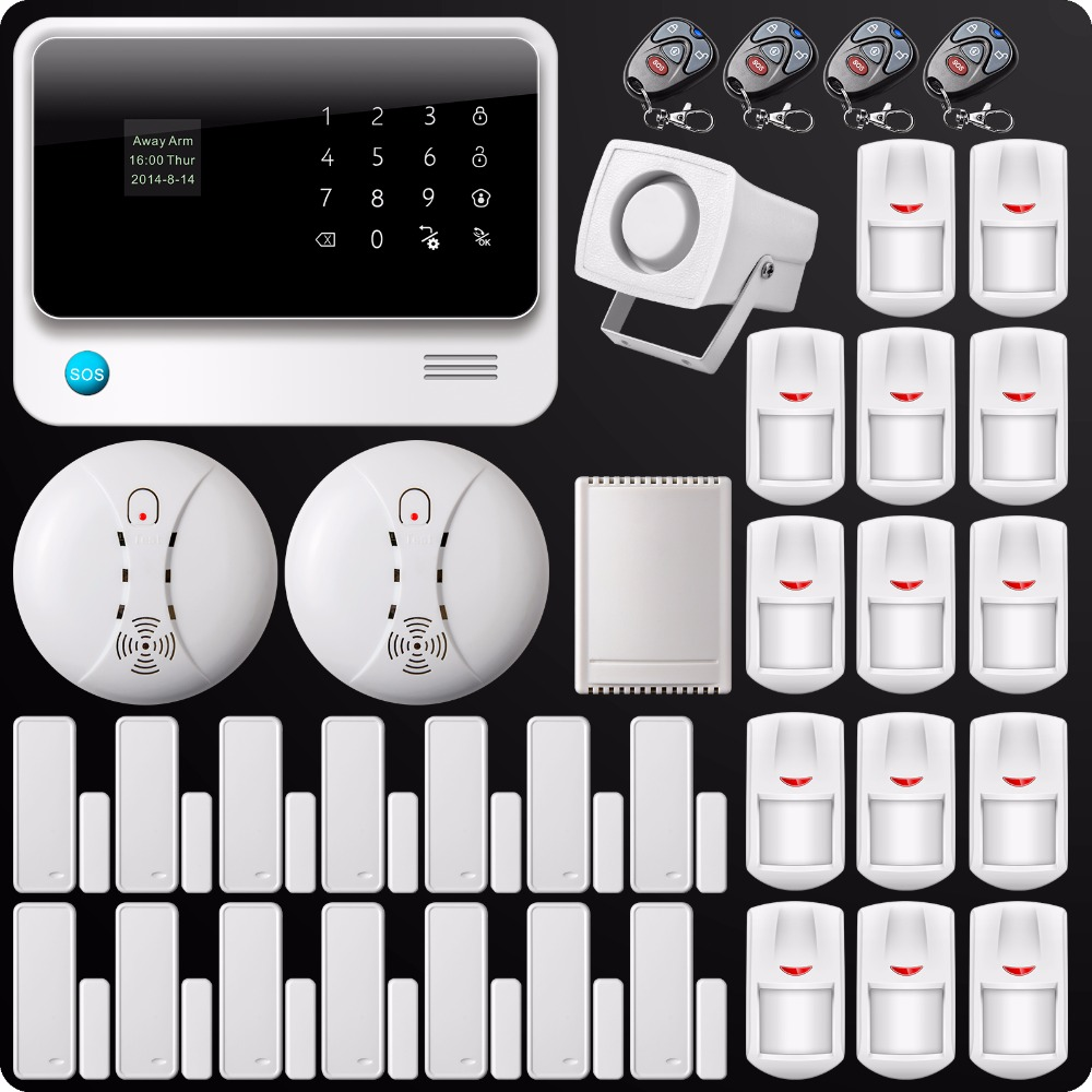 DHL Free Shipping 2.4G WiFi GSM GPRS SMS Alarm System Wireless Home House Security System Wireless Smoke Detector Relay Output dhl ems free shipping wireless home alarm system house safety loudly speaker warehouse protection wireless pir detector sensor