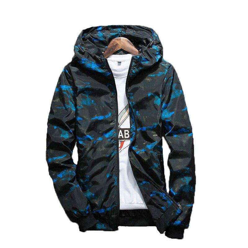 8950cf1cd0d70 Camouflage Jackets Men Windbreaker Spring Autumn Casual Waterproof Camo  Men's Jacket Wind Breaker 4XL Varsity Windcheater Male