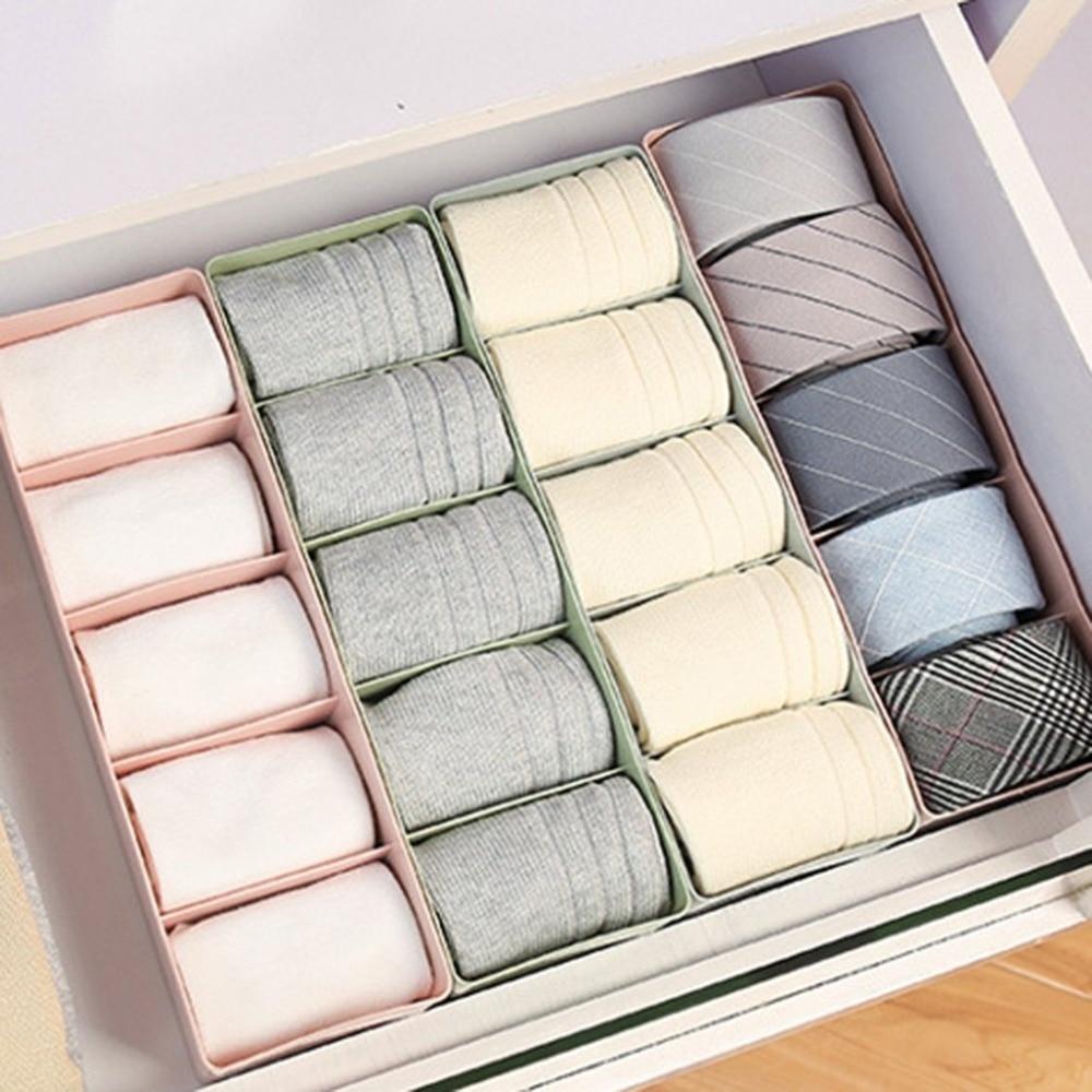 Practical Storage Box Drawer Divider Box For Ties Socks Bra Underwear Organizer
