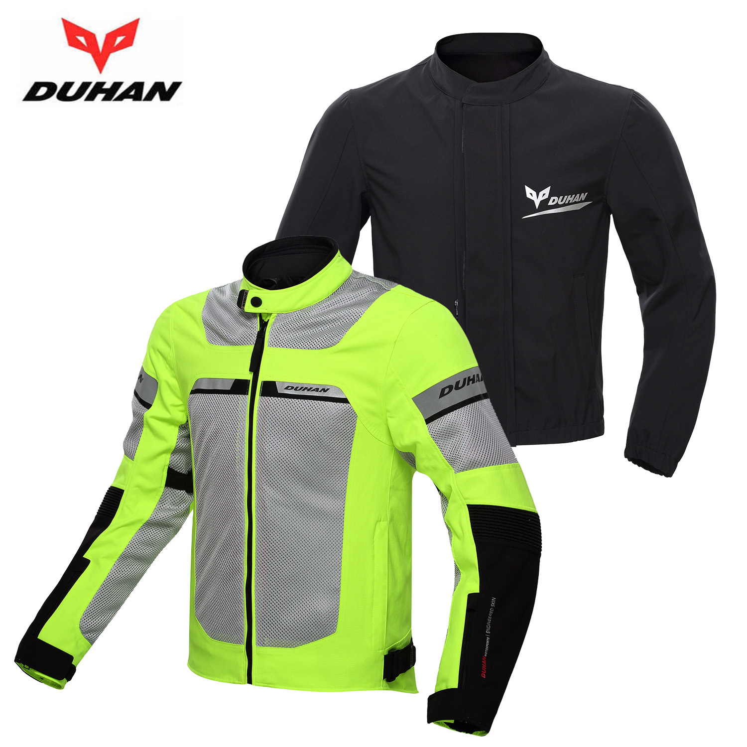 DUHAN Men Motocross Riding Clothes Motorcycle Racing Jacket Windproof Summer Breathable Jackets Clothing With Waterproof Lining duhan men s motocross outdoor riding reflective desgin waistcoat clothing motorcycle jackets summer racing vest jaqueta