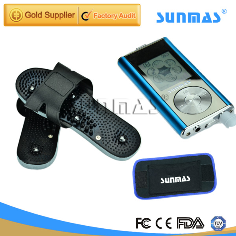 ФОТО SUNMAS Foot Massage Machine Tens Unit Ems Massager Therapy Pain Foot Massager Microcurrent