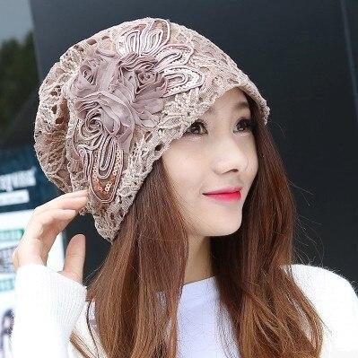 free shipping 2017 Female hat spring and autumn winter season three season wave head hat fashion