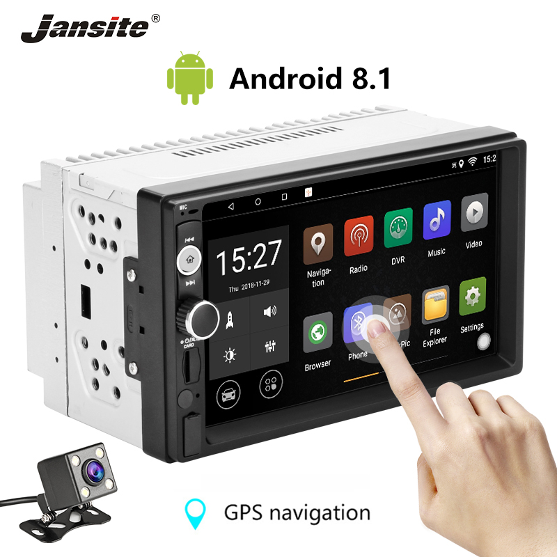 Jansite 7 2 din Car Radio Android 8 1 player Digital Touch screen Bluetooth Multimedia player