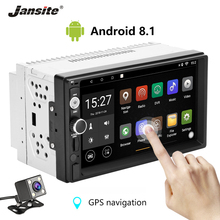 Jansite 7 2 din Car Radio Android 8.1 player Digital Touch screen Bluetooth Multimedia mirror Autoradio With Rear camera