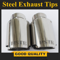 Envío Gratis: Una Uds de acero inoxidable Universal tubo de escape de coche punta Tailtip HSTE coche silenciador de escape punta
