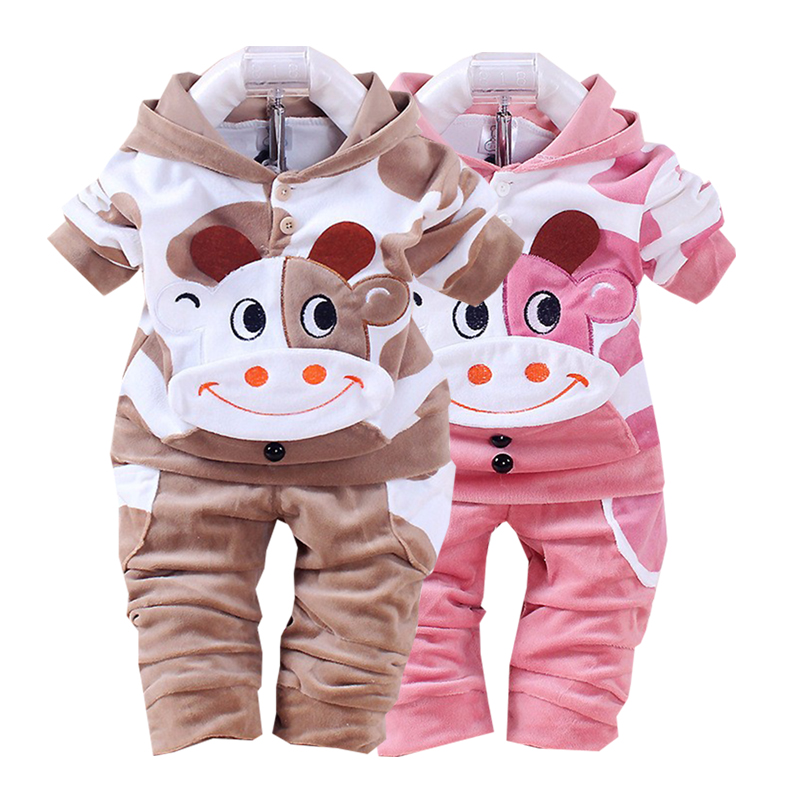 Little Child meisjeskleding jongen herfst en winter plus fluweel warm - Kinderkleding