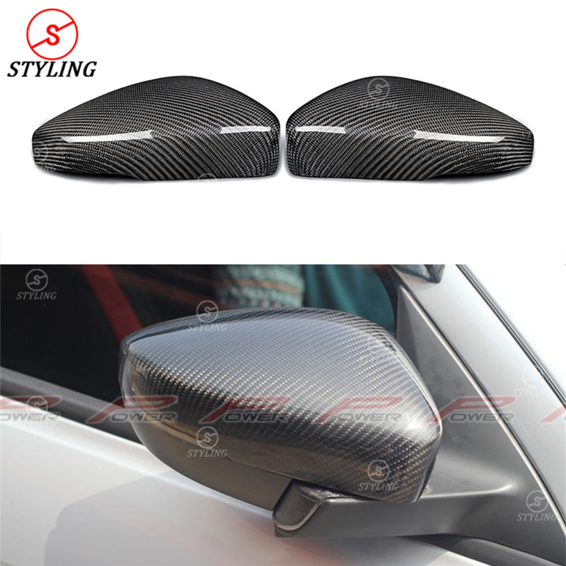 For Volkswagen VW POLO Carbon Mirror Cover VW POLO Rear Side View Mirror Cover Replacement style 2009 2010 2011 2012 2013 2014
