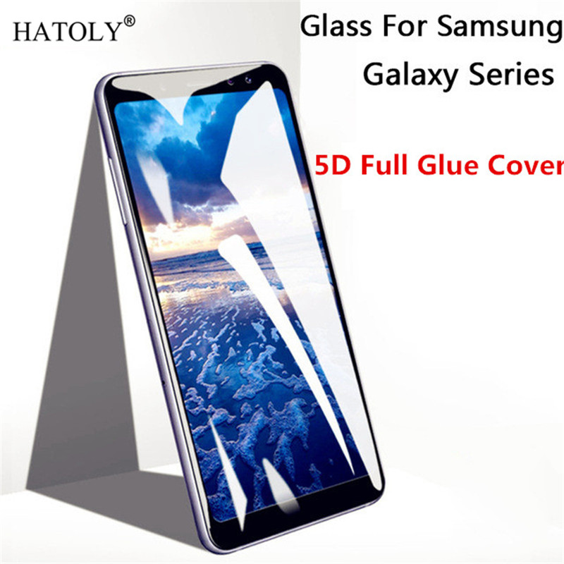 J8 2018 Glass For Samsung Galaxy J8 Tempered Glass For Galaxy J8 2018 Glass Tempered Glass 5D Full Glue Screen Protector Film