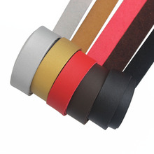 1meter Black/ Brown Color 30*2mm Soft With Nap PU One Side Suede Flat Leather Cord For Necklace Bracelet Jewelry Making