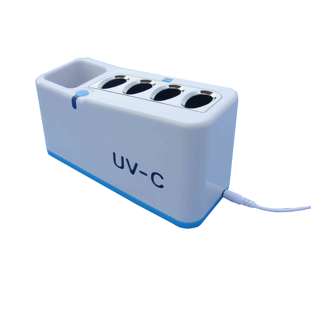 The ultraviolet lamp toothbrush sterilizer for family suits can kill 99.9% of bacteria by 5 minutes.