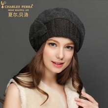 Charles Perra Brand Autumn Winter Women Berets New Casual Fashion Wool Hats Elegant Bowknot Beret Keep Warm Fedoras 4816