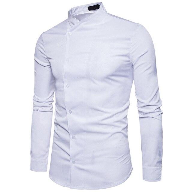 Casual Wit Overhemd.Wit Overhemd Mannen 2017 Onregelmatige Henley Shirt Casual Katoen