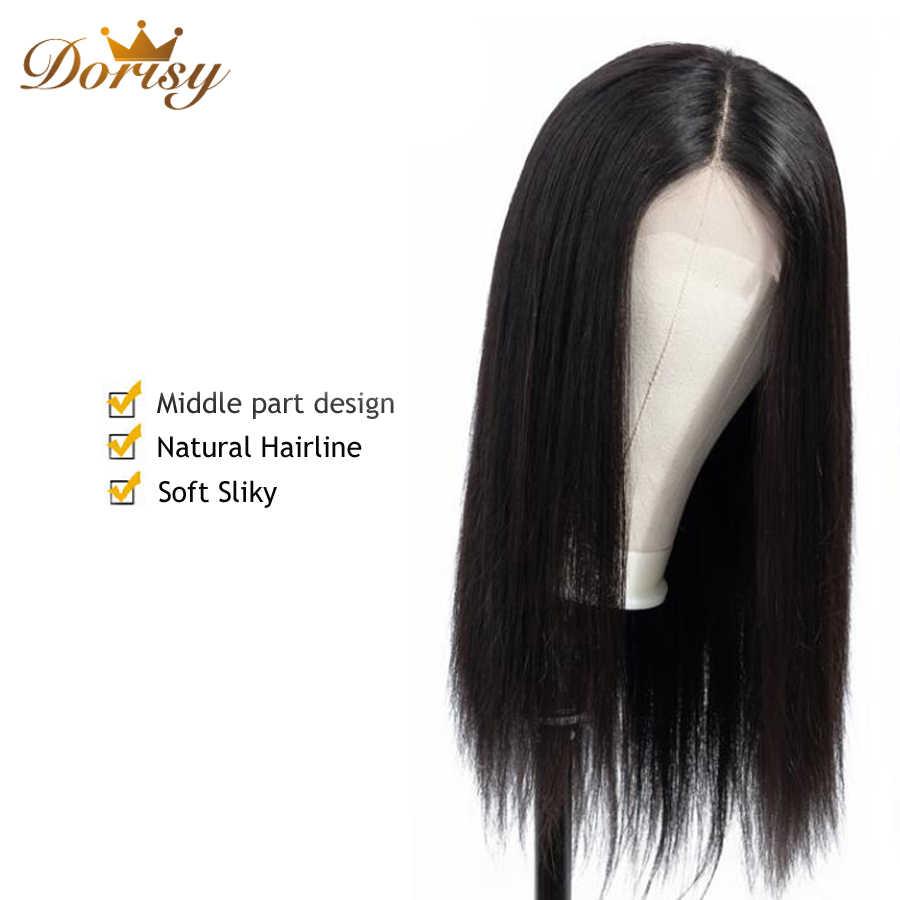 Парики из натуральных волос на кружеве, парики из натуральных волос, парик с закрытием, парик с кружевом для черных женщин, Dorisy, прямые волосы Реми