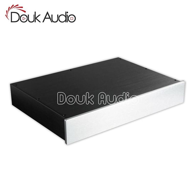 Douk Audio Aluminum Chassis Amplifier Enclosure DAC Decoder Box DIY Preamp House breeze audio aluminum chassis 4308 preamp aluminum enclosure