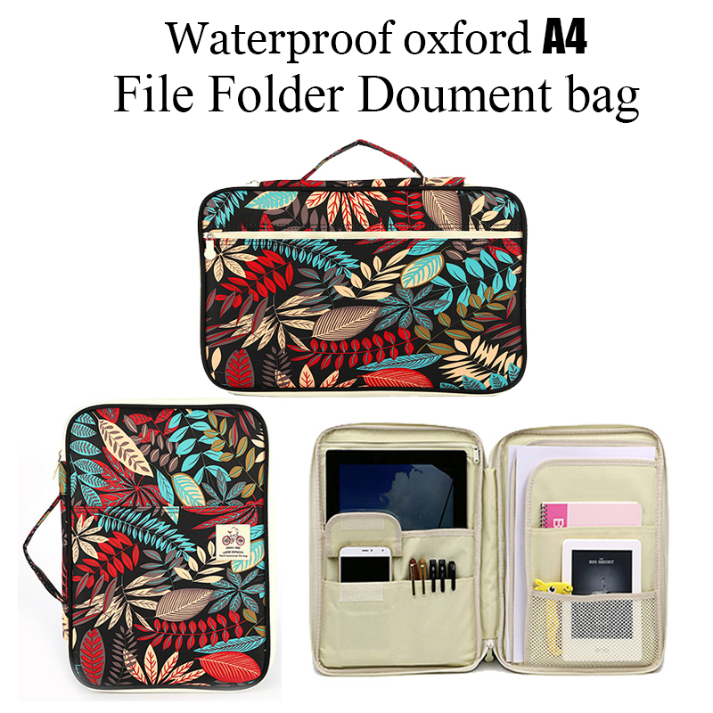 Waterproof Multifunction Business Book A4 Paper File Folder Bag ocument Bag Storage Bag For Notebooks Pens iPad Computers waterproof oxford a4 file folder document bag business briefcase storage bag for notebooks pens ipad bag student gift