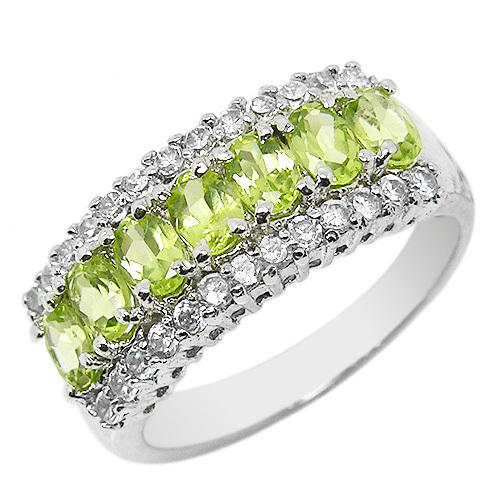 Natural Green Peridot Ring 925 Sterling silver Woman gem crystal Jewelry Elegant Fashion handmade Birthstone Gift 0154PNatural Green Peridot Ring 925 Sterling silver Woman gem crystal Jewelry Elegant Fashion handmade Birthstone Gift 0154P