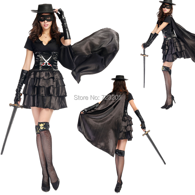 aliexpresscom buy one outfit women sexy cool pirate halloween costume wet look leather multilayer dress sea robber assassin carnival cosplay from - Pirate Halloween Costume For Women