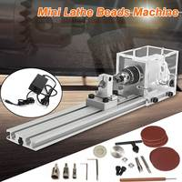 High Quality 24V 80W Mini Lathe Beads Machine Polisher Table Saw Mini DIY Woodworking Lathe Rotary