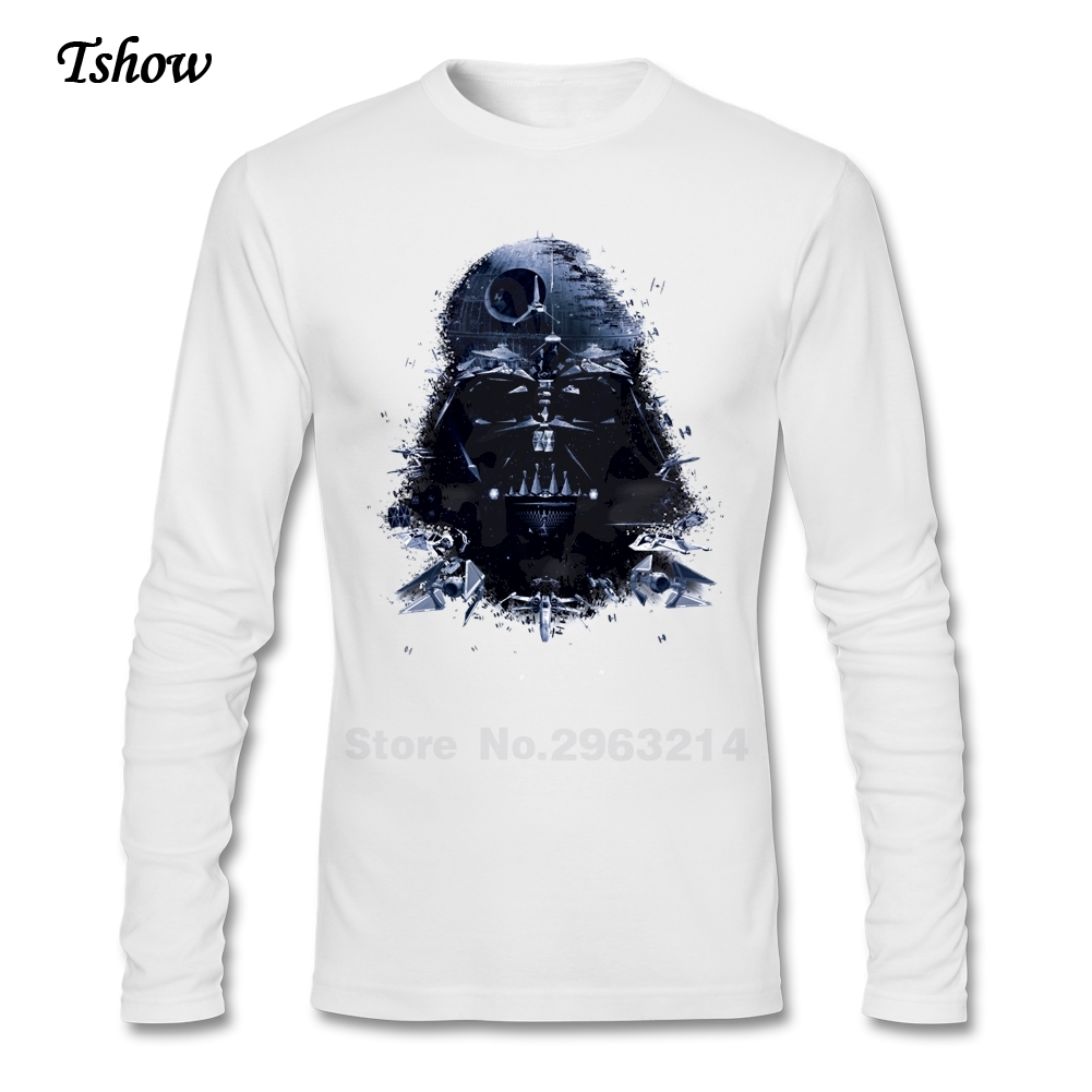 Xs black t shirt - Plus Size Xs 2xl Star Wars Tshirts Men S 100 Cotton Tops Men Long Sleeve Oversize T Shirt For Dad Black T Shirts Clothes