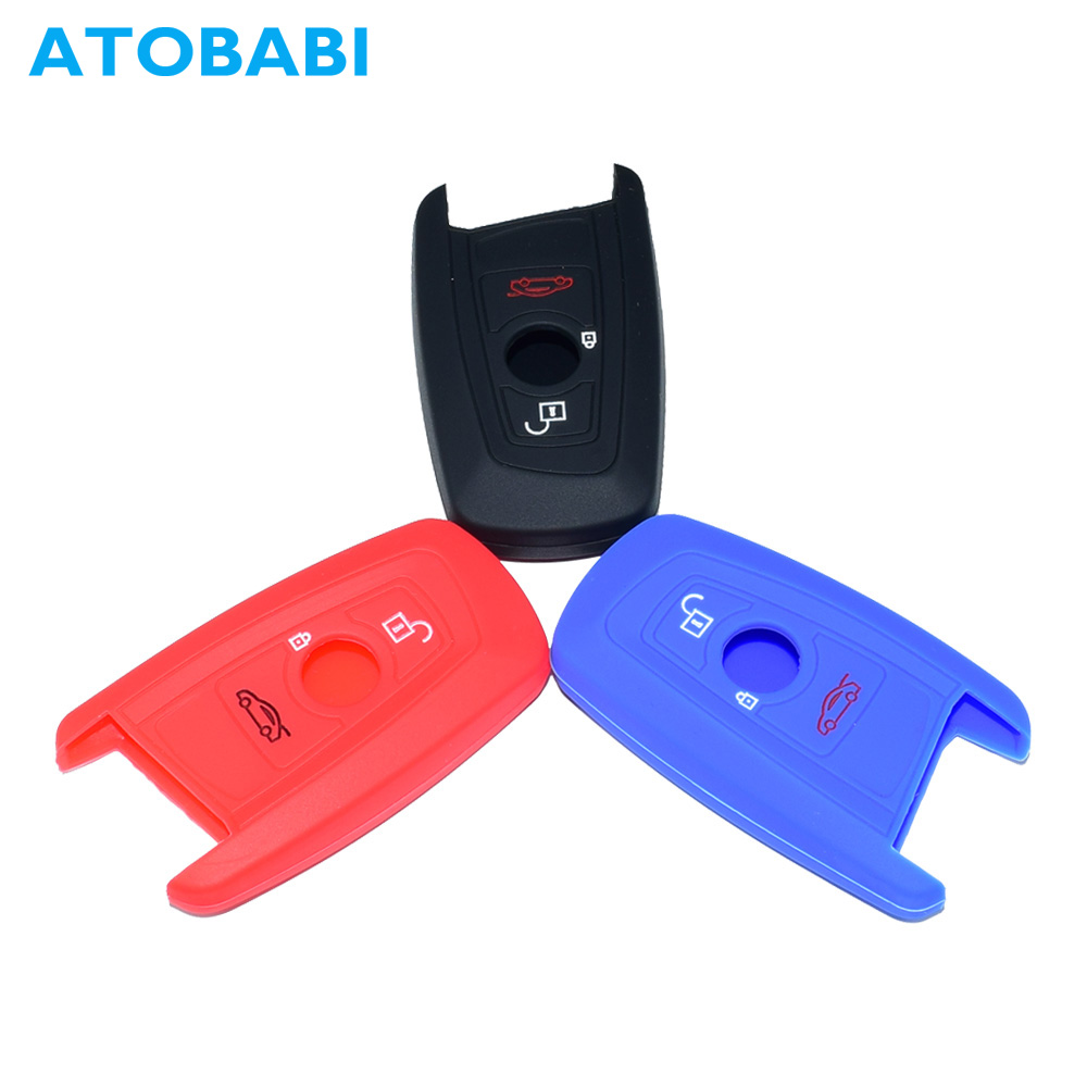 Silicone Car Key Case Remote Fob Cover <font><b>Keychain</b></font> Holder Protector For <font><b>BMW</b></font> X1 M1 GT F20 F10 <font><b>F30</b></font> 520 525 520I 530D E34 E46 E60 E90 image
