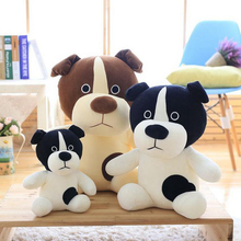 Lovely Black Eyes Sitting Dog Plush Doll Stuffed Animal Soft Plush Toy Birthday Gift For Children стоимость