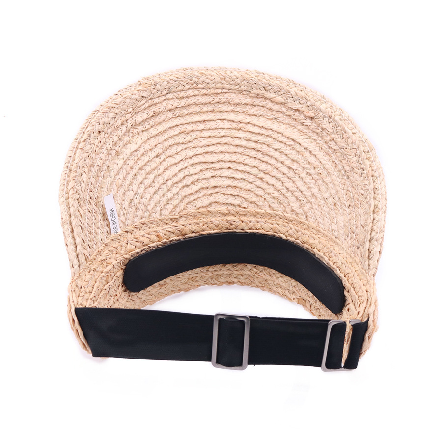 Image 5 - SQTEIO Summer Lafite straw hatHigh quality visor foldable beach travel empty top hat women cap sun hats-in Men's Sun Hats from Apparel Accessories