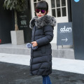 Children Down Jackets Russian Winter Girls Long Sections Thickening Warm Outerwear & Coats Girl Fur Collar Down & Parkas
