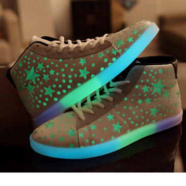 868ac02db Lover High Top Sneakers Margiela Star Canvas Brand Sport Shoes Yeezy  Glowing Sneaker Luminous Casual Shoes 2015