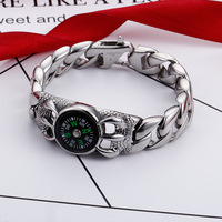 Men's personality hipsters Europe and America retro fashion compass creative outdoor bracelet