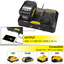 цена на 3A For Dewalt Battery Charger 12v 14.4V 18V 20V Ni-CD Ni-MH Li-ion for Dewalt DCB105 DCB101 Rechargeable Battery Power Tool