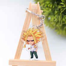 My Hero Academia Keychain Cute Double Sided 7 Styles Key Chain Pendant Acrylic Anime Accessories Cartoon Key Ring DBS1P
