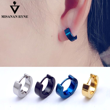 b364a037e Chic 1Pair Cool Punk Men's Stainless Steel Hoop Piercing  Round—MISANANRYNE