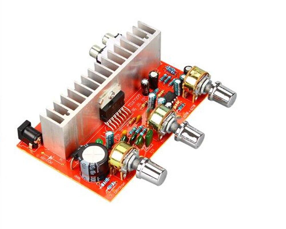 DX-7377 2,0 каналов 12 В 40 Вт двухканальная готовая Плата усилителя мощности высокой мощности