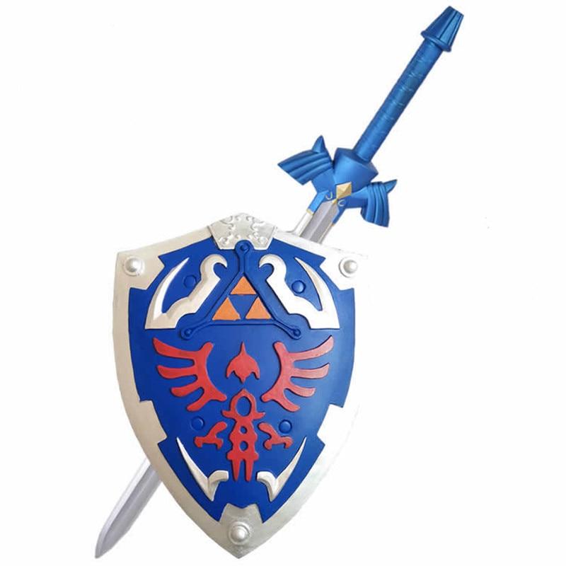 1:1 Game Legend of Zelda Link Cosplay Shield /Sword PU Cos Prop Halloween Link Weapon Role Play safe children toy
