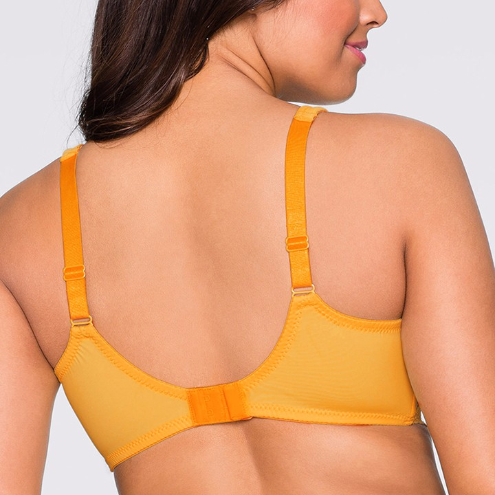 Women's Plus Size Bra Sexy Lace Bras Larger Sizes Yellow Bralette Wide Straps Full Coverage BH For Big Breasted Women C D E F G 15