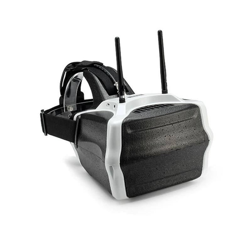 LEACO СЖ-версией v01 40CH 5.8 г fpv очки 7-дюймовый 1280x800 HD видео очки с входным сигналом
