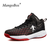 New Arrival Basketball Shoes For Men Boys Black Red Gym Training Sneakers Anti Slip Basketball Boots
