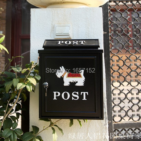 European cast iron mailbox Wall Mount Metal Post Letters Box Fashion Vintage Newspaper box Post Letter Box