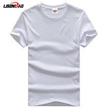 2015 New arrival high quality O Neck Camisetas short t sleeve mens 100% cotton t- shirts  plus size 5XL Casual T-shirt Men