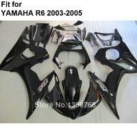 ABS plastic fairing for Yamaha fairings YZFR6 2003 2004 2005 black bodywork parts fairing kit YZF R6 03 04 05 BC43