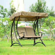 2 person patio garden swing outdoor hammock hanging chair bench with canopy(China)