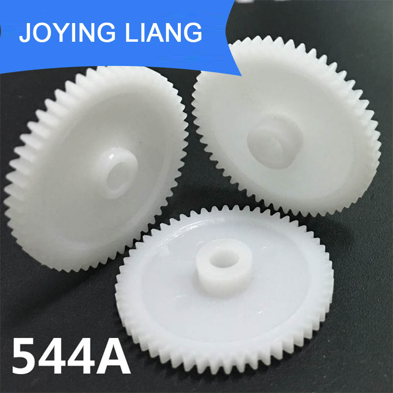 544A 0.5M 28MM Big Gear Modulus 0.5 54 Tooth 4mm Hole Plastic Gear Wheel Toy Accessories 10pcs/lot