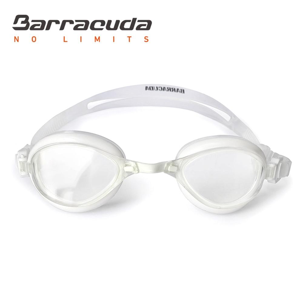 Barracuda լող ակնոցներ FENIX արտոնագրված TriFushion համակարգը հակամառախուղային ուլտրամանուշակագույն պաշտպանություն Հեշտ կարգավորող մրցույթ մեծահասակների համար # 72755