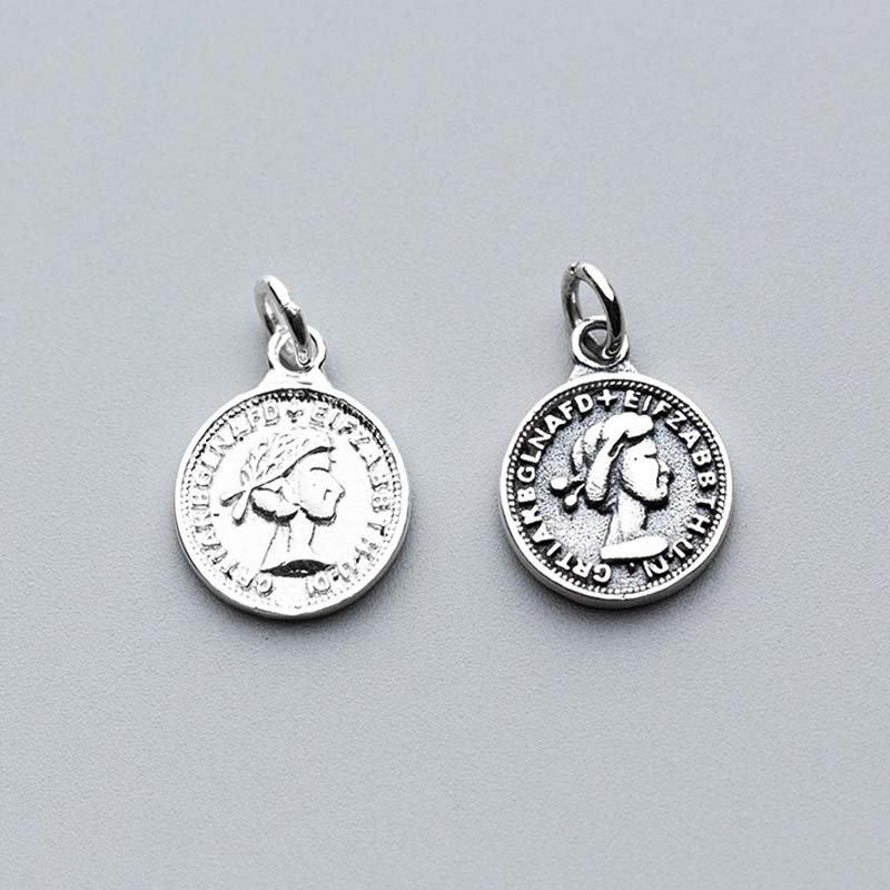 Jewelry Sets & More Flight Tracker Vintage European Queen Coin Charms 925 Sterling Silver Women Bracelets Necklace Pendant Findings Diy Jewelry Making Accessories To Be Highly Praised And Appreciated By The Consuming Public