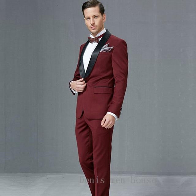 Slim Fit Men Suits Latest Coat Pant Designs 2017 Groom Wedding ...
