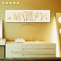 Yellow Orchid Flower Big Canvas Oil Painting Decorative Picture For Bedroom Sofa Hotel Modern Simple Oil